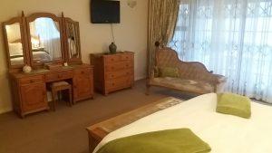 classic furniture in the luxury sea view honeymoon room